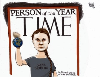 Political Cartoon U.S. Time Person Of The Year