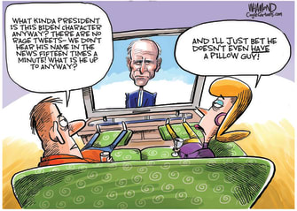 Political Cartoon U.S. Biden Trump twitter mypillow