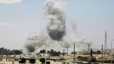 Fighting near Raqqa, Syria.