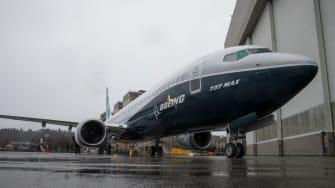 Boeing 737 Max Airplane.