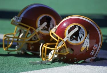 A Redskins helmet