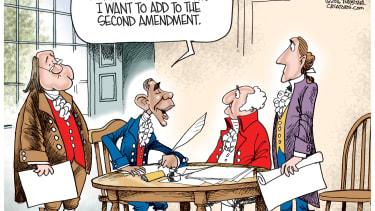 Obama cartoon U.S. Second Amendment