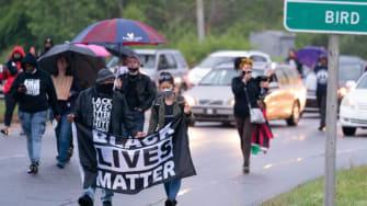 Protest in Elizabeth City, North Carolina.