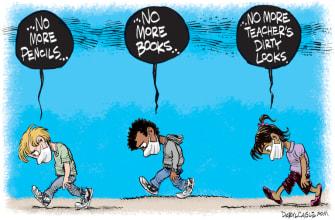 Editorial Cartoon U.S. schoolsout coronavirus