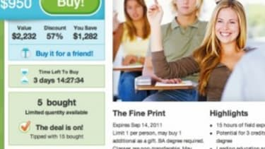A coupon for college?