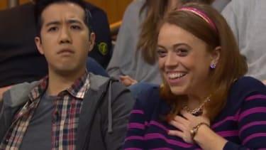 Seth Meyers sweetly skewers audience marriage proposals