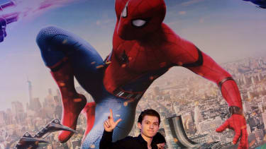 Tom Holland at a Spider-Man press conference