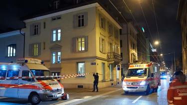 A Muslim prayer center in central Zurich, where a gunman opened fire Monday.