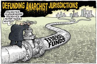 Political Cartoon U.S. Trump anarchist jurisdiction