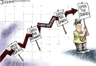 Editorial Cartoon U.S. coronavirus reopenings schools