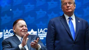 President Trump and Sheldon Adelson.