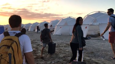A scene from Fyre.
