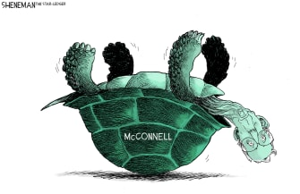 Political Cartoon U.S. GOP McConnell Senate