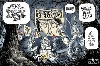 Political Cartoon U.S. trump maga gop