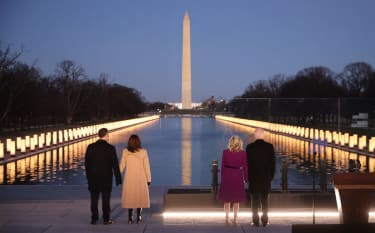 The Bidens and Harris mourn COVID-19 victims