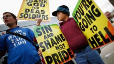 Last October, members of the Westboro Baptist Church demonstrated outside the Supreme Court, which has ruled that the church's controversial protests are protected under the First Amendment.
