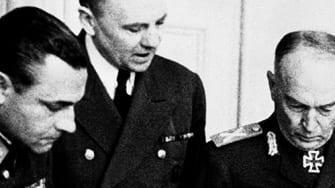 Hitler and Antonescu.