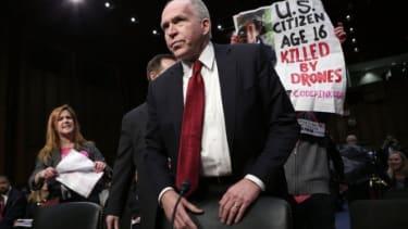 Code Pink protesters disrupt the start of John Brennan's Senate confirmation hearing.
