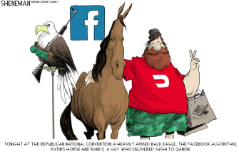 Political Cartoon U.S. RNC qanon