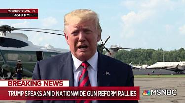 Trump talks about gun laws