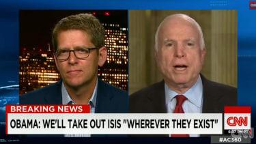 Sen. John McCain attacks Jay Carney during CNN debut