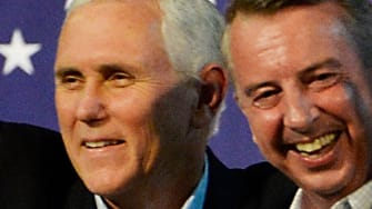Vice President Pence and Virginia's Republican gubernatorial candidate Ed Gillespie.