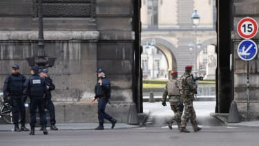 French law enforcement responds to attack at the Louvre museum