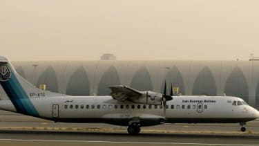A French-made airplane belonging to Iran's Aseman Airlines.
