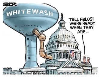 Political Cartoon U.S. Trump impeachment senate McConnell Pelosi