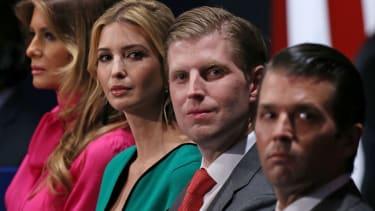 Ivanka Trump, Eric Trump and Donald Trump Jr.