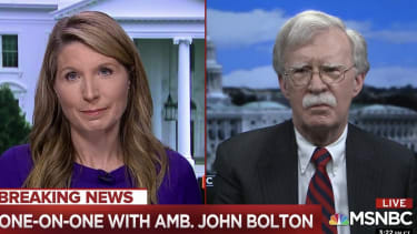 Nicolle Wallace and John Bolton.