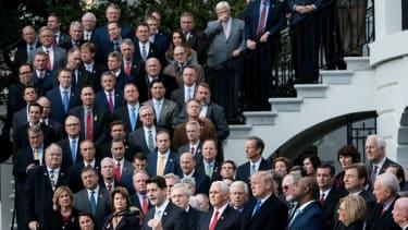 Trump and House Republicans celebrate tax overhaul