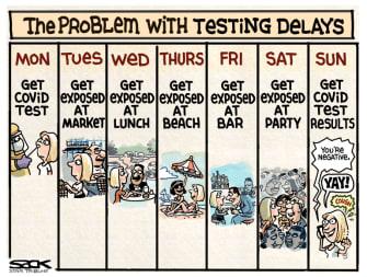 Editorial Cartoon U.S. coronavirus testing delays