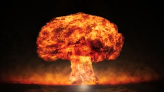 A nuclear blast.