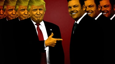 Donald Trump and Kris Kobach.