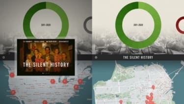 """Screen shots from the iPad version of the new ebook """"The Silent History"""""""