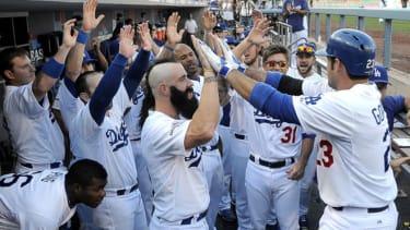Dodgers' celebration