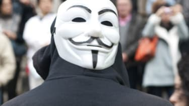 Members of hacking group Anonymous
