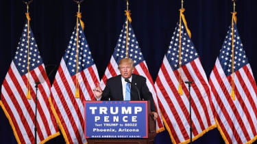 Trump unveils 10-point plan on illegal immigration in Phoenix in 2016.