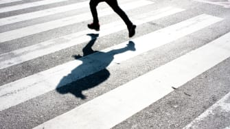 A person crossing the street.
