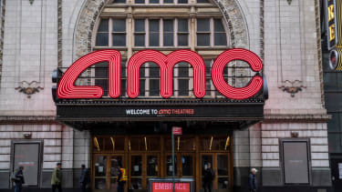 An AMC theater remains closed on March 17, 2020 in New York City. Schools, businesses and most places where people congregate across the country have been shut down as health officials try to