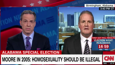 Jake Tapper interviews a Roy Moore aide.