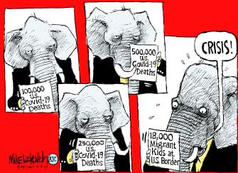 Political Cartoon U.S. gop covid child migrants
