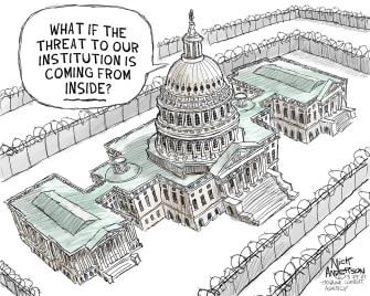 Political Cartoon U.S. senate congress capitol