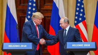 Trump and Putin in Helsinki.