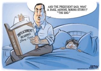 Political Cartoon U.S. Devin Nunes Impeachment Story Time