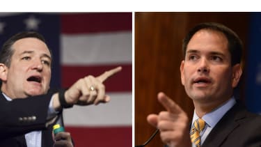 Ted Cruz and Marco Rubio disagree over taxes.