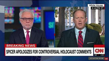 Sean Spicer apologizes for Hitler-Holocaust flub