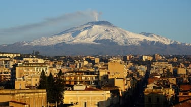 Mount Etna as seen in February.