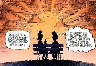 Editorial Cartoon U.S. wildfires